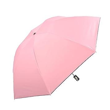 HAN-NMC Paraguas automático Paraguas plegable,tierna Rosa