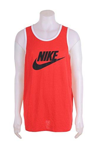 Nike Menns Ess Logo Tank Top Universitet Rød / Svart