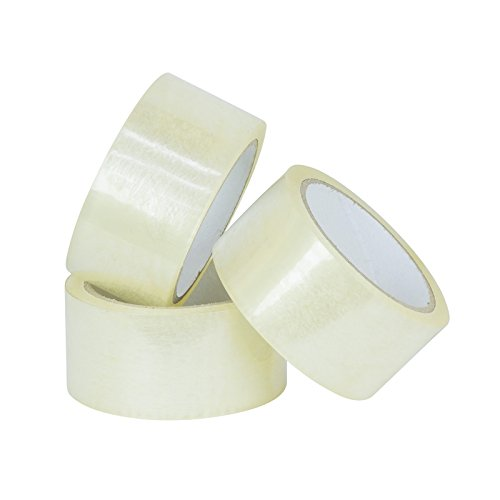 Packing Tape, 3 Inch X 110 Yard 1.7 Mil Clear Tape By SecureTac, (24 Rolls) by SecureTac