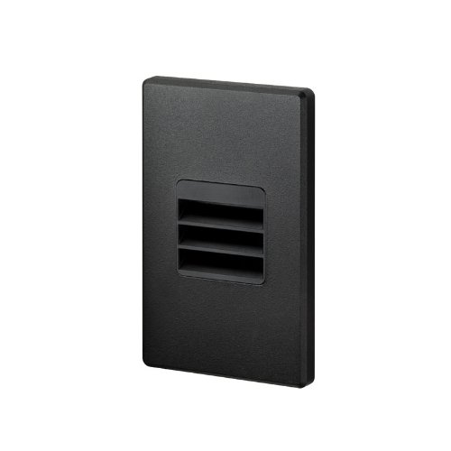 Juno Lighting Group LMS-41K-L-BL  LED Louver Optic Indoor 3W 120V 4100K Dimmable Mini Step Light, Black Textured Finish by Juno Lighting Group