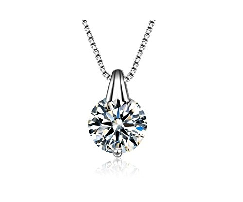 ff9ee7737aab66 Buy TBOP Exclusive Necklace Clavicle Simple Zircon Single Diamond Pendant  Necklace in Silver Color for Women Online at Low Prices in India | Amazon  ...