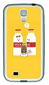 Lilyshouse Cartoon Milk Samsung Galaxy S4 I9500 Rubber Shell with White Edges Cover Case by ruishername