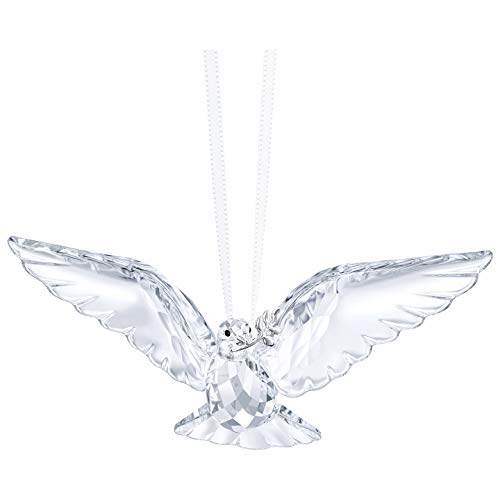 - Swarovski Clear Peace Dove Ornament, Crystal, 2.6 x 7.2 x 3.5 cm