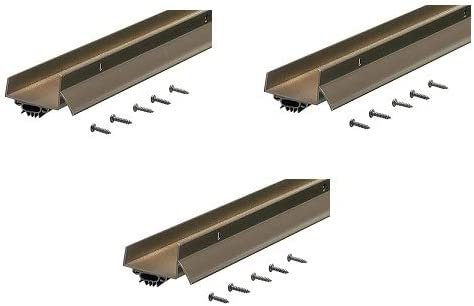 Bronze Тhrее Расk M-D Building Products 69554 1-3//4-Inch by 36-Inch DB003 U-Shaped Door Bottom with Drip Cap
