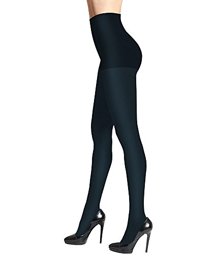 - DKNY Opaque Control Top Tights, S, Navy Blue