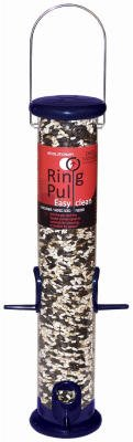 Pull Yankees Ring Droll (Droll Yankees Ring Pull Sunflower And Mixed Seed Feeder 2.5 In. Dia Metal 4 Ports 1 Lbs. Blue)
