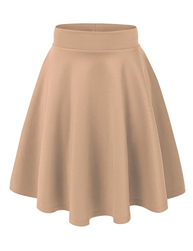 MBJ WB829 Womens Flirty Flare Skirt XXL Khaki