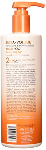 GIOVANNI- 2chic Ultra-Volume Shampoo with Tangerine and Papaya Butter- For Fine, Limp Hair (24 Fluid Ounce)
