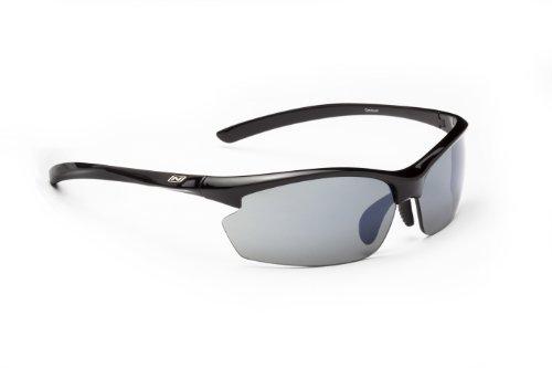 Optic Nerve Omnium Sunglasses, Shiny Black, Blue Zaio - Sunglasses Nerve