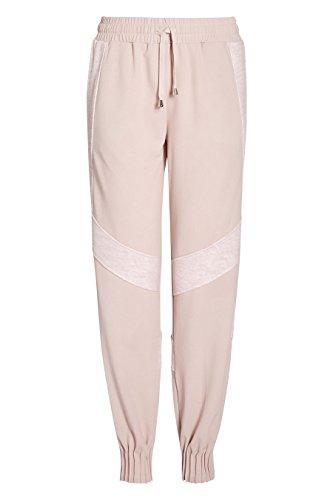 next Mujer Pantalones Deportivos De Chándal De Jogging Detalles De Paneles Cinturilla Elástica Ajustable Rosa