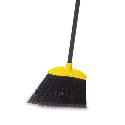 Jumbo Smooth Sweep Angled Broom in Black and Yellow [Set of 6] by Rubbermaid Commercial Products