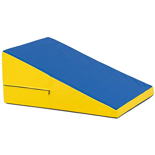 oldzon Exercise Incline Gymnastics Mat Slope Cheese Gym Aerobics Tumbling Fitness Wedge with Ebook