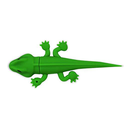 Cute Flash Drive 64GB, EASTBULL Novelty Flash Drive Memory Stick Cute USB 2.0 Thumb Drive Pen Drive Cartoon Gecko Shape (1PCS) (Drive Lizard Usb)