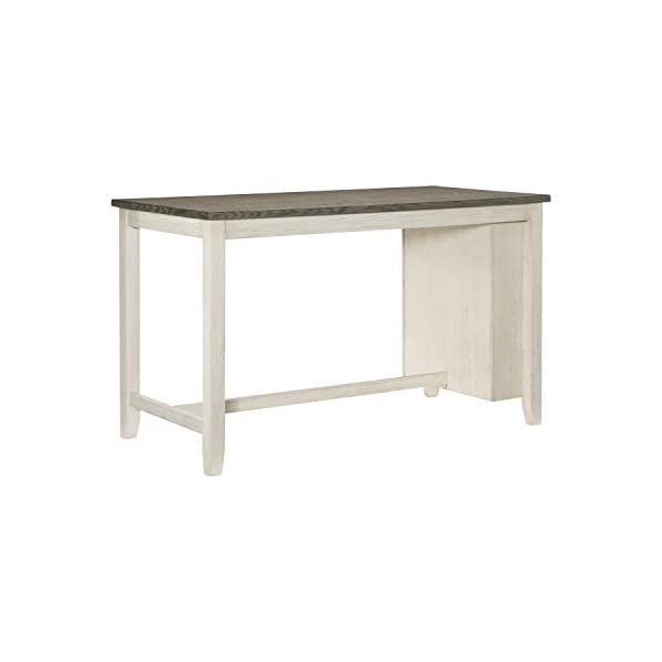 "Lexicon 60"" x 30"" Counter Height Dining Table, Antique White"