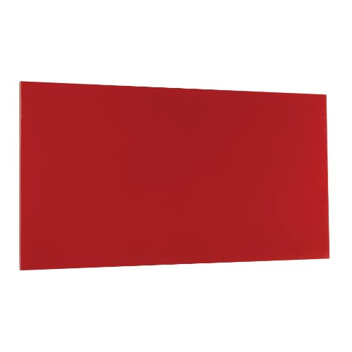 STEELMASTER Magnetic Board with Dry-Erase Pad, Pen and Magnets, 14 x 30 Inches, Red (Splash Cork Board)