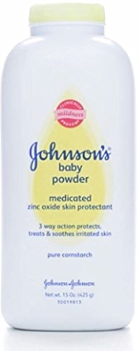 JOHNSON'S Medicated Baby Powder 15 oz (Pack of 4) by Johnson's