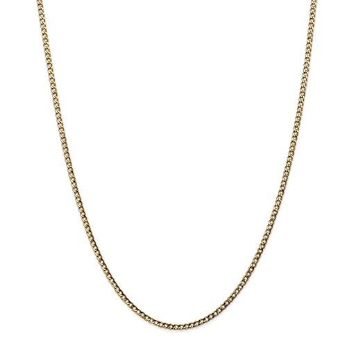 14kt Gold Curb Link Necklace - ICE CARATS 14kt Yellow Gold 2.5mm Curb Cuban Link Chain Necklace 20 Inch Pendant Charm Fine Jewelry Ideal Gifts For Women Gift Set From Heart