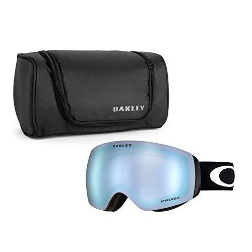 Oakley Flight Deck XM Snow Goggle (Matte Black Frame/Prizm Sapphire Iridium Lens) with Large Goggle Soft Case