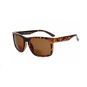 Herina Bifocal Eyekepper Bifocal Sunglasses (+250, Brown Lens)