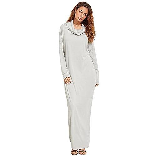 Winter white maxi dresses
