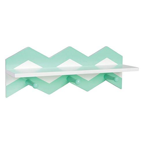 Trend Lab Chevron Wall Shelf, Mint Green/White ()