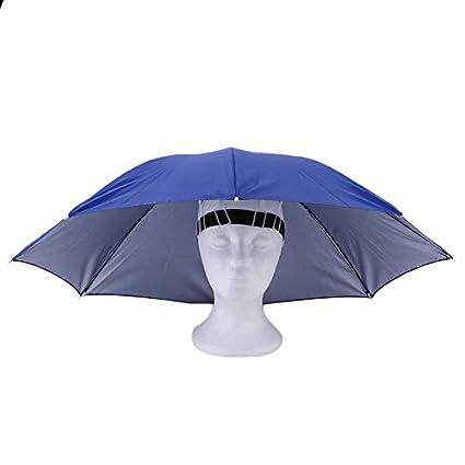 Portátiles Deportes al Aire Libre 69cm Paraguas Plegable del Casquillo del Sombrero  Hombres Mujeres Paraguas Pesca da224f6a208