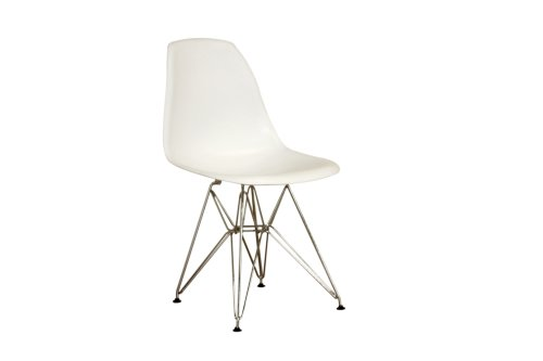 Amazon Com Baxton Sutdios Isidora White Chairs With Wire