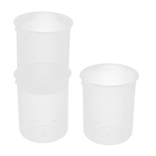 uxcell Plastic 150mL Chemistry Laboratory Water Liquid Measuring Cup Beaker 3pcs