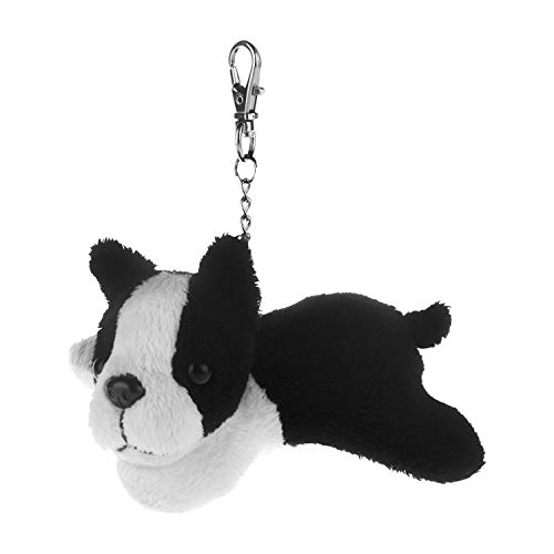 10cm Keychain Plush Toy Dogs Metal Key Chain Pendant For Bag,Boston Terrier