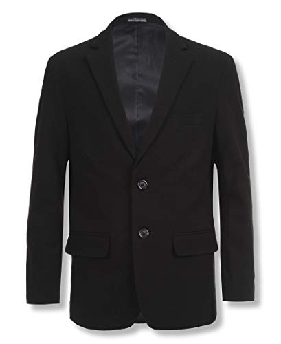 (Calvin Klein Big Boys' Bi-Stretch Blazer, Black, 12)