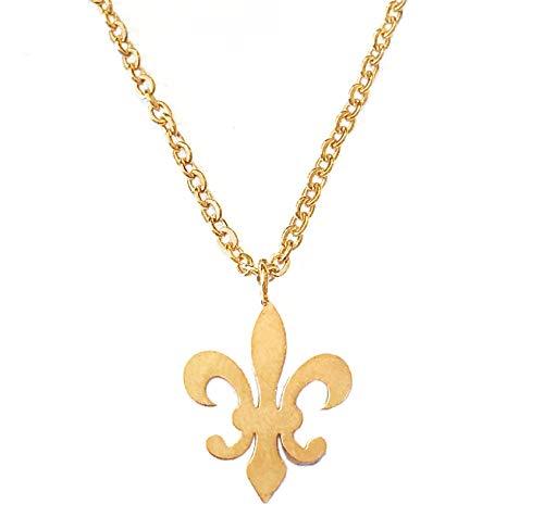 - Altitude Boutique Fleur De Lis Pendant Necklace (Gold)