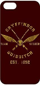 Harry Potter Gryffindor Quidditch Cover Hardshell Plastic iPhone 5/5s Case Cover by runtopwell