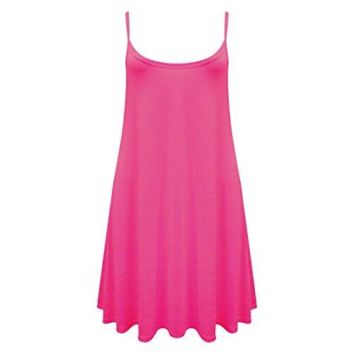 Camiseta o mini vestido sin mangas para mujer, tallas de la 36 a la 54 Cereza