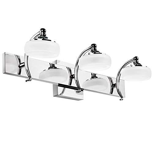 Lightess Bathroom Vanity Lights, 20W 3-Light 18in Modern LED Over Mirror Lighting - Bathroom Splash Mirrors Over