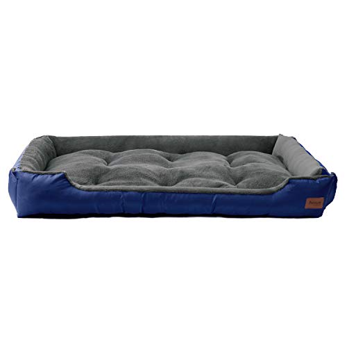 (Petsure Extra Large Dog Bed XXXL Size Navy Washable Dog Beds for Small Medium Large Dogs & Cats Pet Bedding - Grooved Anti-Slip Bottom with Hook&Loop, Super Soft & Durable Pet Supplies)