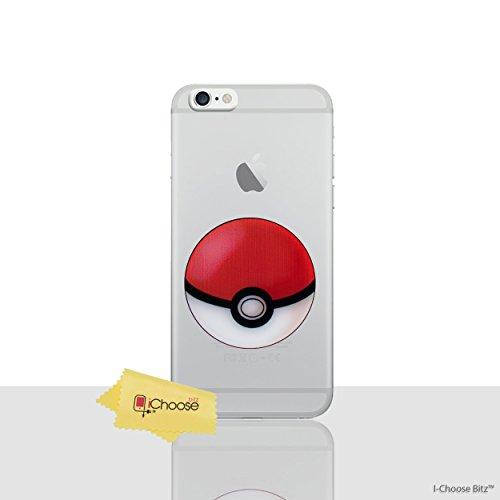 iPhone 6/6s Pokemon Caja de Silicona / Squirtle Cubierta de Gel para Apple iPhone 6S 6 / Protector de Pantalla y Paño / iCHOOSE Pokeball