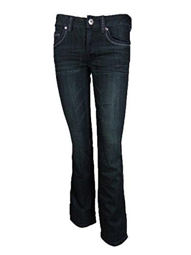 - INC International Concepts Women's Boot Leg Regular Fit Jeans (4, Indigo)