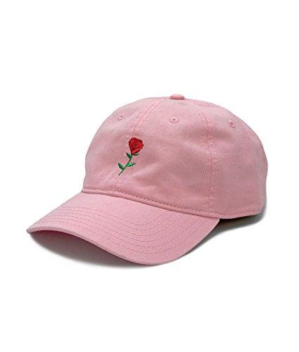 0557f4bdec515d Riot Society Rose Embroidered Mens Adjustable Dad Hat Pink ...
