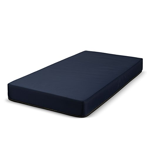 Fortnight Bedding 6 Inch Foam Mattress with Blue Nylon Cover Made in USA (Twin) -