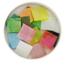 3/4'' Iridized Stained Glass Chip Assortment - 48 Pieces