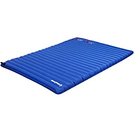 KingCamp Light Outdoor Camping Air Mattress Mat Pad Bed with Built-in Foot Pump, Single and Double Size