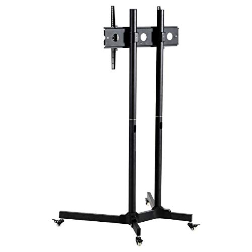 Toolsempire Height Adjustable Mobile TV Cart Rolling TV Stand for 30'' to 65'' Universal LCD LED Plasma Flat Panel Screens Within 600x400mm up to 132lbs with Wheels by Toolsempire (Image #7)