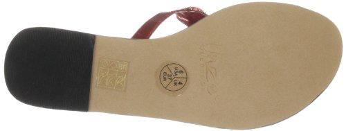 Unze Evening Slippers L18829W - Sandalias de cuero para mujer Rojo