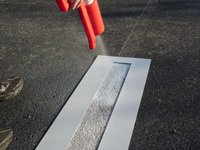 PARKING LOT LINE STENCIL | 4 X 108 inch | 60 mil Standard Grade | for Parking Lot and Pavement ()