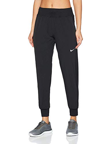 Nike Womens Flex Essential Running Pants Black/Reflctive Silver AQ9715-010 (X-Small)