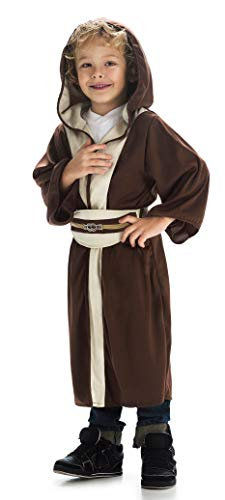 Little Adventures Galactic Warrior Hooded Robe with Belt (Galactic Hero (Brown), Medium Age 3-5)