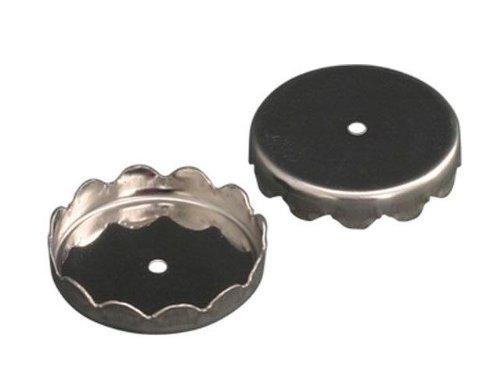 Wenko 4409030100 Ersatzhalter für Magnetseifenhalter Metall, 2-er Set, silber