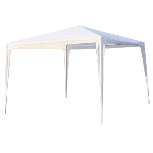 ALEKO GZ10X10WH Waterproof Gazebo Tent Canopy For Outdoor Events Picnic Parties, White Color Canopy Event Tent