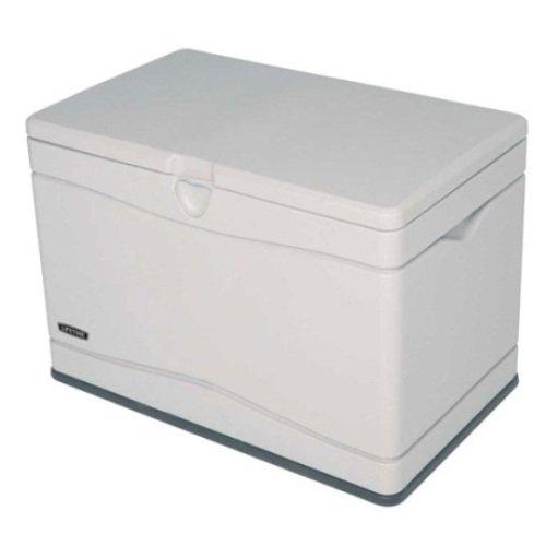 Lifetime Outdoor Deck Storage Box 80 Gallon. Sand w/Black ()