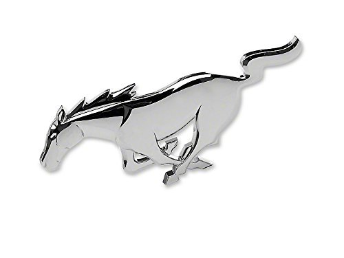Ford Mustang Running Horse Pony Emblem - Chrome